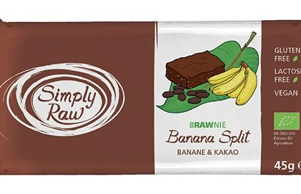 BRAWNIE BANANA SPLIT RAW BIO 45G