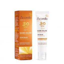 Acorelle - Balsam protectie solara fata cu ulei de Karanja SPF 30 30ml [002]