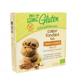 Biscuiti fara gluten cu crema de cacao si alune 200G