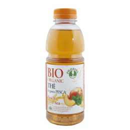 Ice tea bio piersici fara zahar 500ml