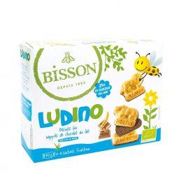 LUDINO - biscuiti acoperiti cu ciocolata cu lapte cu forme pentru copii 160g