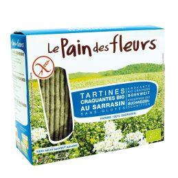 Le Pain des fleurs - Turte crocante cu hrisca - fara sare, zahar, fara gluten 150g [002]